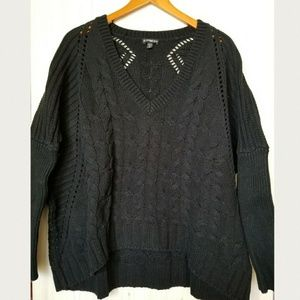 Express cable knit dolman sweater